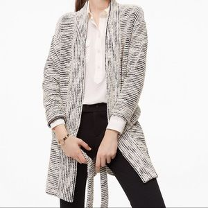 LOFT Textured Belted Sweater